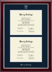 Berry College Diploma Frame - Double Diploma Frame in Gallery Silver