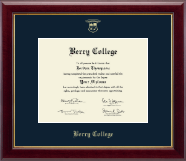 Berry College Diploma Frame - Gold Embossed Diploma Frame in Gallery