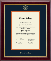 Snow College Diploma Frame - Gold Embossed Diploma Frame in Gallery