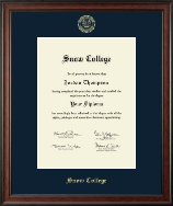 Snow College Diploma Frame - Gold Embossed Diploma Frame in Studio
