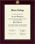 Snow College Diploma Frame - Century Gold Engraved Diploma Frame in Cordova