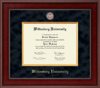 Wittenberg University  Diploma Frame - Presidential Masterpiece Diploma Frame in Jefferson