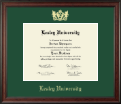 Lesley University Diploma Frame - Gold Embossed Diploma Frame in Studio