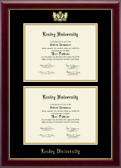 Lesley University Diploma Frame - Double Diploma Frame in Gallery