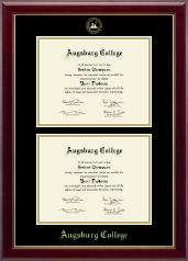 Augsburg College Diploma Frame - Double Diploma Frame in Gallery