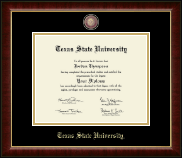 Texas State University Diploma Frame - Masterpiece Medallion Diploma Frame in Murano