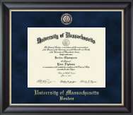 University of Massachusetts Boston Diploma Frame - Regal Edition Diploma Frame in Noir