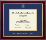 Mount St. Mary's University Diploma Frame - Gold Embossed Diploma Frame in Gallery