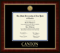 State University of New York at Canton Diploma Frame - Gold Engraved Medallion Diploma Frame in Murano