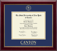 State University of New York at Canton Diploma Frame - Gold Embossed Diploma Frame in Gallery