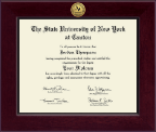 State University of New York at Canton Diploma Frame - Century Gold Engraved Diploma Frame in Cordova