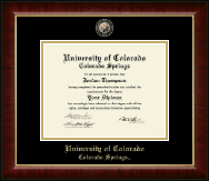 University of Colorado Colorado Springs Diploma Frame - Masterpiece Medallion Diploma Frame in Murano