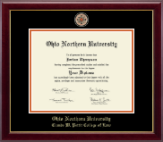 Ohio Northern University Diploma Frame - Masterpiece Medallion Diploma Frame in Gallery