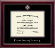 Eastern Kentucky University Diploma Frame - Masterpiece Medallion Diploma Frame in Gallery Silver