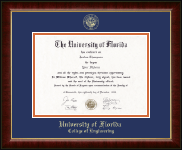 University of Florida Diploma Frame - Gold Embossed Diploma Frame in Murano