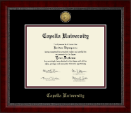Capella University Diploma Frame - Gold Engraved Medallion Diploma Frame in Sutton