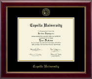 Capella University Diploma Frame - Gold Embossed Diploma Frame in Gallery
