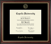 Capella University Diploma Frame - Gold Embossed Diploma Frame in Studio Gold