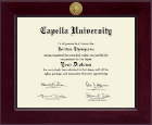 Capella University Diploma Frame - Century Gold Engraved Diploma Frame in Cordova