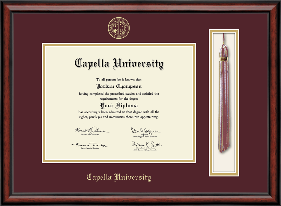 Capella University Tassel Edition Diploma Frame In