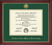 Eastern New Mexico University Diploma Frame - Gold Engraved Medallion Diploma Frame in Kensington Gold