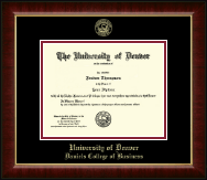 University of Denver Diploma Frame - Gold Embossed Diploma Frame in Murano