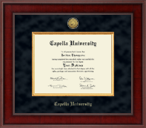 Capella University Diploma Frame - Presidential Gold Engraved Diploma Frame in Jefferson