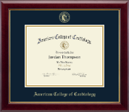 """8.5""""x11"""" - Gold Embossed Certificate Frame"""