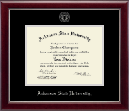 Arkansas State University at Jonesboro Diploma Frame - Silver Embossed Diploma Frame in Gallery Silver