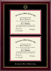 Arkansas State University at Jonesboro Diploma Frame - Double Diploma Frame in Gallery