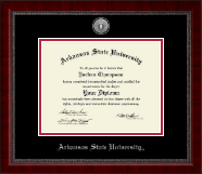 Arkansas State University at Jonesboro Diploma Frame - Silver Engraved Medallion Diploma Frame in Sutton