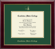 Castleton State College Diploma Frame - Gold Embossed Diploma Frame in Gallery