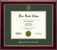 Penn Foster College Diploma Frame - Gold Embossed Diploma Frame in Gallery