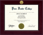 Penn Foster College Diploma Frame - Century Gold Engraved Diploma Frame in Cordova