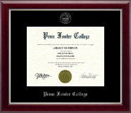 Penn Foster College Diploma Frame - Silver Embossed Diploma Frame in Gallery Silver