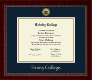 Trinity College Diploma Frame - Gold Engraved Medallion Diploma Frame in Sutton