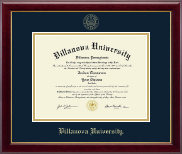 Villanova University Diploma Frame - Gold Embossed Diploma Frame in Gallery