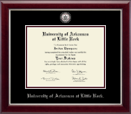 University of Arkansas at Little Rock Diploma Frame - Masterpiece Medallion Diploma Frame in Gallery Silver