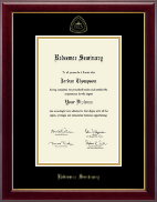 Redeemer Seminary Diploma Frame - Gold Embossed Diploma Frame in Gallery