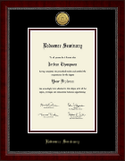 Redeemer Seminary Diploma Frame - Gold Engraved Medallion Diploma Frame in Sutton