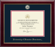University of Houston Downtown Certificate Frame - Masterpiece Medallion Certificate Frame in Gallery