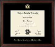 Northern Kentucky University Diploma Frame - Gold Embossed Diploma Frame in Studio
