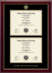 Northern Kentucky University Diploma Frame - Double Diploma Frame in Gallery