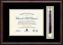 Grand Canyon University Diploma Frame - Custom Tassel Document Frame - 8.5' x 11' horizontal document in Southport