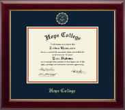 Hope College Diploma Frame - Gold Embossed Diploma Frame in Gallery