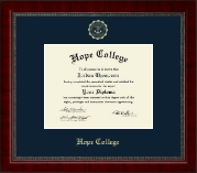Hope College Diploma Frame - Gold Embossed Diploma Frame in Sutton