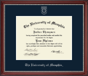 The University of Memphis Diploma Frame - Silver Embossed Diploma Frame in Kensington Silver