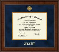 The University of Memphis Diploma Frame - Presidential Gold Engraved Diploma Frame in Madison