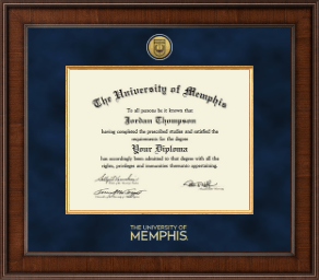 the university of memphis diploma frame presidential gold engraved diploma frame in madison