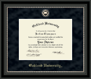 Oakland University Diploma Frame - Regal Edition Diploma Frame in Noir